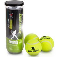 Wholesale Tennis Balls pack Natural Rubber Cloth Chemical Fiber Standard Tennis balls for Competition Feel comfortable