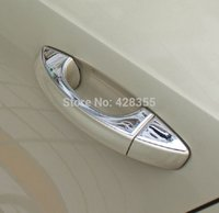 Wholesale 8PCS For VW Skoda Octavia A7 Stainless steel trim DOOR HANDLE COVER auto accessories