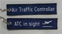 air atc - Air Traffic Controller ATC in sight Fabric Key Chain Aviation Tags x cm