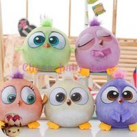 Wholesale Angry cute colored bird big movie doll car pillow plush toy pillow gift