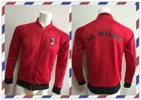 ac clothes - Cheap Thailand AC Milan Red Jacket clothes out tracksuit coat Football Suit Training Shirt soccer Jersey Jacket