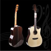 Wholesale 41 inch Folk Acoustic Guitars Top Grade A Shabili Single Spruce Veneer Mahogany Hollow Travel Guitars for Kids Adults