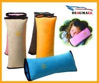 baby car seat pad - High Quality Children Car Soft Headrest Pair Baby Vehicle Safety Seat Belt Pillows Strap Soft Shoulder Pad Cushion Neck Seatbelt