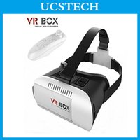 Wholesale Head Mount Plastic Virtual Reality D Glasses Helmet VR BOX Headset VR Box D Glasses with Remote Controller Google Cardboard For Smartphone