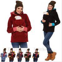 Wholesale Baby Carrier Kangaroo Coats Maternity Outerwear Kangaroo Jacket Sweatshirts Kangaroo Pullover Jumper Winter Hoodie Fleece Babywearing B1278