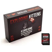 Wholesale Hot EXPLODING KITTENS Cards NSFW DECK Card Games Family Funny Entertainment Board Games Playing Cards Puzzle Games