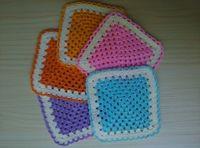 lace doilies - 2016 New ArrivalSet of Matching Handcraft Crochet Doilies Lace Placemats Coasters Kitchen Table Decoration Accessories