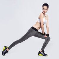 Wholesale High Waist Stretched Sports Pants Gym Clothes Spandex Running Tights Women Sports Leggings Fitness Yoga Pants