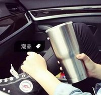 Wholesale Newest Bilayer Stainless Steel Insulation Cup OZ Cups Cars Beer Mug Large Capacity Mug Tumblerful by DHL