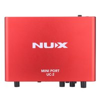 audio output jack - NUX UC Mini Port USB XLR mm Input Output Audio Interface for Mic MIDI Instrument Recording Playback