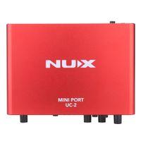 usb midi - NUX UC Mini Port USB XLR mm Input Output Audio Interface for Mic MIDI Instrument Recording Playback