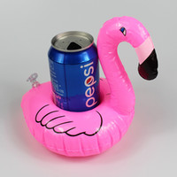 best inflatable swimming pool - Flamingo Inflatable Drink Botlle Holder Lovely Pink Floating Bath Drink holder Flamingo Float Best swimming pool Supplies IN STOCK
