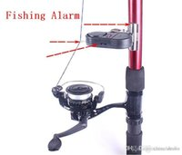 Wholesale Fishing Alarm with LED light Rod alarm Fish Alarm Bell Electronic Bite Fishing finder Rod Pole Free DHL