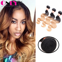 best indian remy hair extensions - Ombre Hair Extensions Two Tone Blonde B Best A Ombre Brazilian Peruvian Malaysian Indian Body Wave Virgin Remy Human Hair Weave Bundles