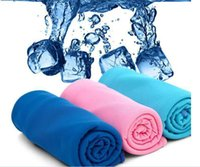 Wholesale Gifts package Cold Towel Summer Sports Ice Cooling Towel Color Hypothermia cool Towel cm for sports children Adult A015