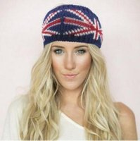 america ladies accessories - National Flag Wide Hair Band Europa America Autumn Winter New Ladies Women Hand Made Fashion Knitted Head Band Hair Accessories