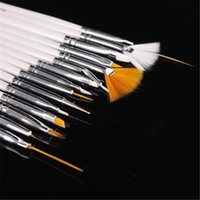 Wholesale New Acrylic UV Gel Nail Art Design Pen Polish Painting Tool Dotting Brush Set