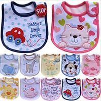bib trades - Genuine trade cotton cartoon baby bibs three waterproof bibs bib bibs
