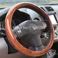 Wholesale PVC Material Peach wood texture car Steering Wheel Covers four seasons Universal cm for Octavia city Sylphy nice colors