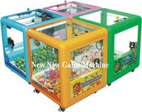 amusement vending machines - 2016 New Amusement Equipment Arcade Kids Children Square Coin Operated Vending Games Gift Toy Mini Crane Claw Machine For Sale