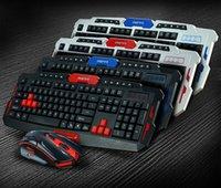Wholesale New upgrade Intelligent G wireless mouse and keyboard set TV game light Kit HK8100