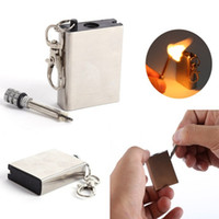 Wholesale 10000 time Metal match Fire starter tool flint stone lighter gas oil magnesium outdoor survive camp hike