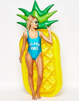 bali swim - 2016 Fashish Pool Float inch M Pineapple Air Mattress Inflatable Pool Fruit Bali Island Holiday Inflatable Swim RING Water Toy