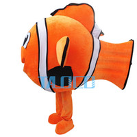 Wholesale finding Nemo Dory Fish Mascot Costume adults for sale blue fish dory character Schools Costumes for Halloween Party Fancy Dress