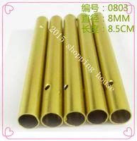 diamètre de tube d'or longueur 50pcs 8.5cm 8MM DIY Handmade matériau aluminium Campanula métallique tube creux accessoires Windbell