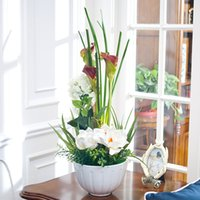 silk flower art overalls - Rui Shikai poetry art silk flower European American Pastoral dining room decoration overall floral flower simulation