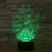 baby star lamp - 2016 new D acrylic panel LED lighting a small lamp Star Wars Millennium strange baby child resting decorative lamp D TD02