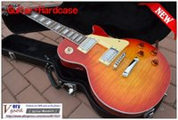 Wholesale New LP standard sunrise color Tiger maple top mahogany electric guitar With hard case