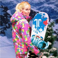 Wholesale Snowboard Ski Jacket Woman Winter Jacket Women Mountain Skiing Jackets Waterpoof Thermal Plaid Winter Ski Clothes Ladies Sport
