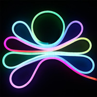 Wholesale 20M SMD Rainbow Led Strip V WS2811 IC Waterproof IP68 RGB flexible Led neon tube light rope for show party home decoration