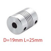 Wholesale 1pcs x8mm CNC Motor Jaw Shaft Coupler mm To mm Flexible Coupling OD x25mm Dropshipping