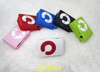 Wholesale Portable Clip MP3 Player Mini C Button mp3 player Card Reader music player With TF SD Card Slot