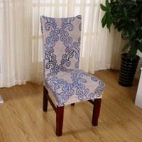 armrest chair covers - 2016 Universal Chair Cover European Printing Cover for No Armrest Chairs Elasticity Home Decoration Chair Case