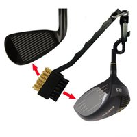 Wholesale DHL Golf Club Side Brush Gold Cleaning Brush Dual Bristles Golf Club Brush Cleaner Golf Accessory New Arrival