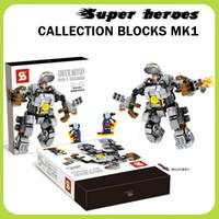 Wholesale New SY Marvel Super heroes Captain America Armor Iron Man Mark Hulkbuster Minifigure Building Blocks Compatible with Legoe