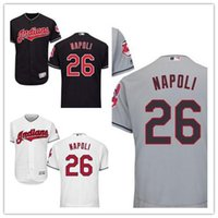 Wholesale Mike Napoli Cleveland Indians Jersey size extra small XS S xl Sewn