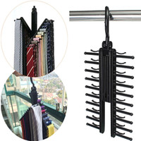 Wholesale Adjustable Rotating Neck Tie Belt Compact Non slip Hanger Rack Organizer Closet