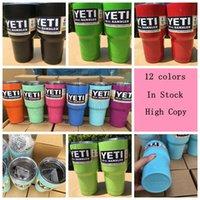 Wholesale 12 Color oz YETI Rambler Tumbler Cup powder coated Bilayer Vacuum Insulation Cup Tumbler Mug In Stock OOA454