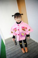 Wholesale Hot girls clothes mantle kids outwear cape cloak butterfly hoodies mantle for T children colors
