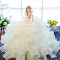 ball carton - 30pcs per carton small order Girl toys Wedding present Doll Big Barbie Doll with Ball Grown