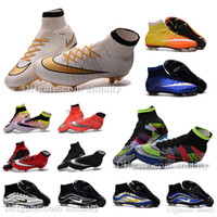 Wholesale 2016 Original MEN V Soccer Shoes SuPeRflY MerCURial FG CR7 Football Boots soccer cleats hypervenom Phantom mens soccer boots Magista Obra