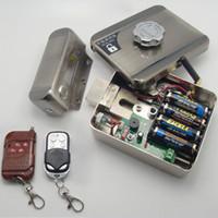 Wholesale NEW Keyless Entry Smart Door Lock Electronic Door Remote Lock with Remotes
