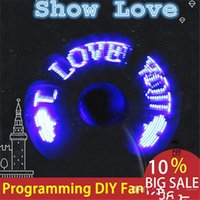 Wholesale DIY Flexible USB LED Light Fans Mini Programming Any Text Editing Creative Reprogramme Character Advertising Message Greeting