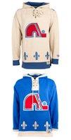 achat en gros de quebec nordiques coton ouaté-Personnalisés Québec Nordiques Maillots de hockey Uniformes 19 Joe Sakic Hommes Femmes Enfants Hoodie Sweats à capuche Vestes