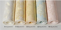 Wholesale 0 m m wallpaper rolls Papel de parede Sprinkle gold murals damask wall paper roll modern stereo D mural wall paper flower printed