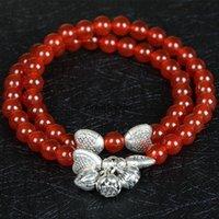 agates of lake - original red agate bracelet Tibetan silver fish lotus crystal lakes supply a stall on behalf of